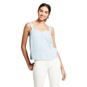 NWT Mossimo Camisole Sleeveless Top Large Blue